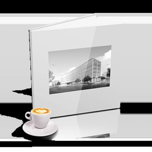 Livre Carré XL Blanc Personnalisé
