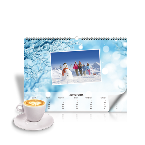 Calendrier Mural A4 horizontal Hiver