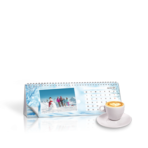 Calendrier Chevalet Hiver