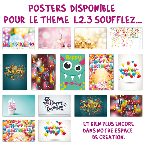 Mini poster multi-photos Anniversaire