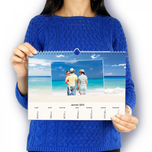 Calendrier Mural A4 horizontal Plage
