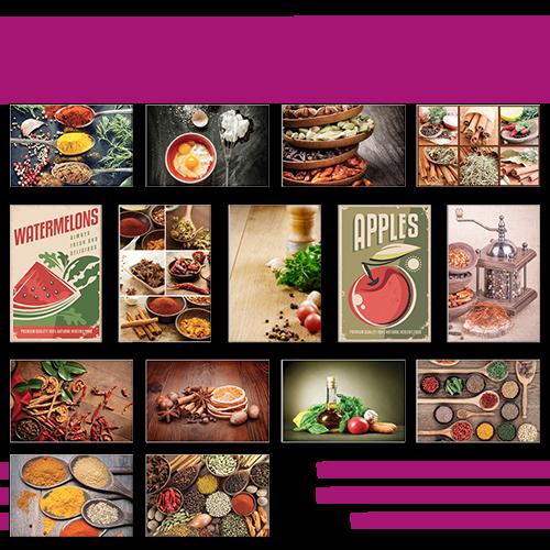 Poster simple classic Cuisine