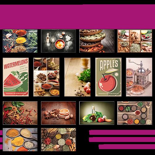 Poster simple medium Cuisine