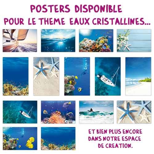 Poster multi-photos medium Plage