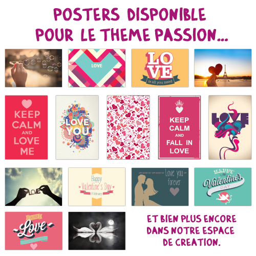 Poster simple XXXL Passion