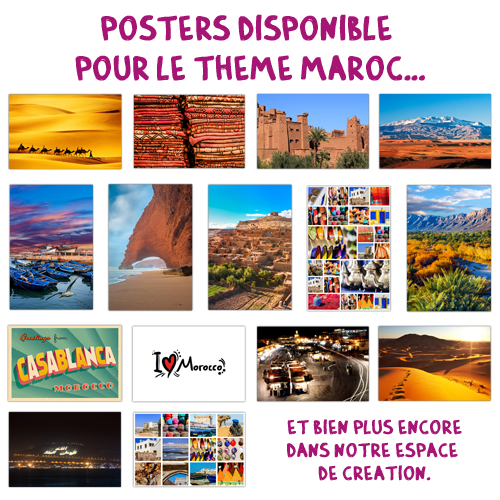 Poster simple classic Maroc