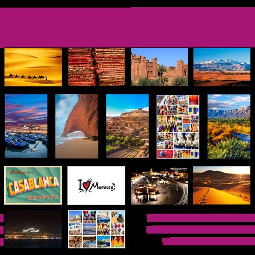 Mini poster simple Maroc