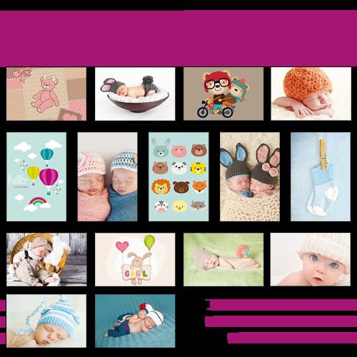 Mini poster multi-photos medium Naissance